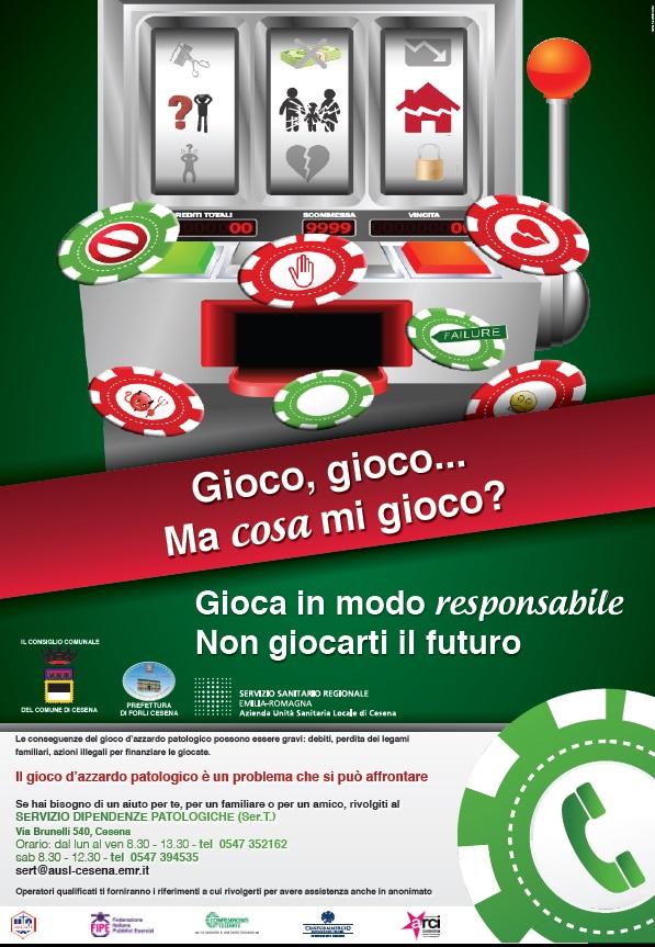 Campagna contro gioco d'azzardo patologico